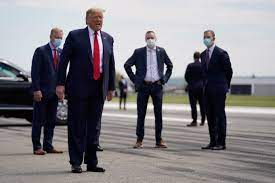 Trump refused to wear a mask