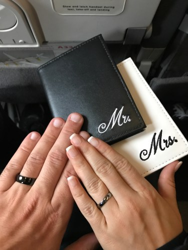 When To Go Honeymoon Flight Mr Mrs Wedding Bands Passports Married Travel