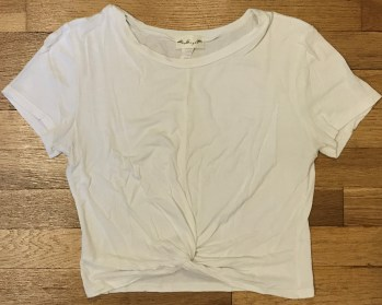 White Crop Top Shirt