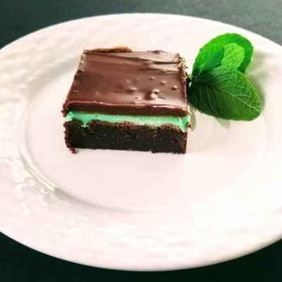 Easy mint chocolate brownies