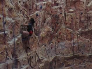 No red shorts when climbing