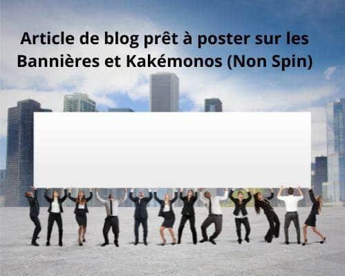 Articles de blog pas cher
