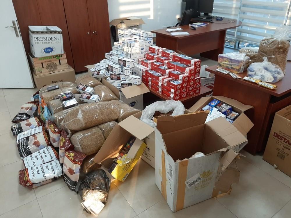 Amasya'da kaçak tütün operasyonu