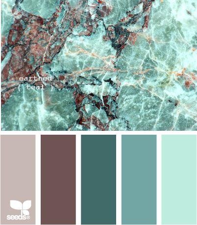 Palette colore turchese