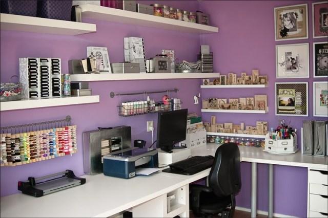 Colore viola per le pareti dello studio con il feng shui