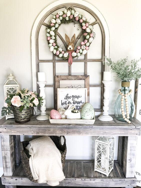 Decorazione di Pasqua per la casa in stile farmhouse