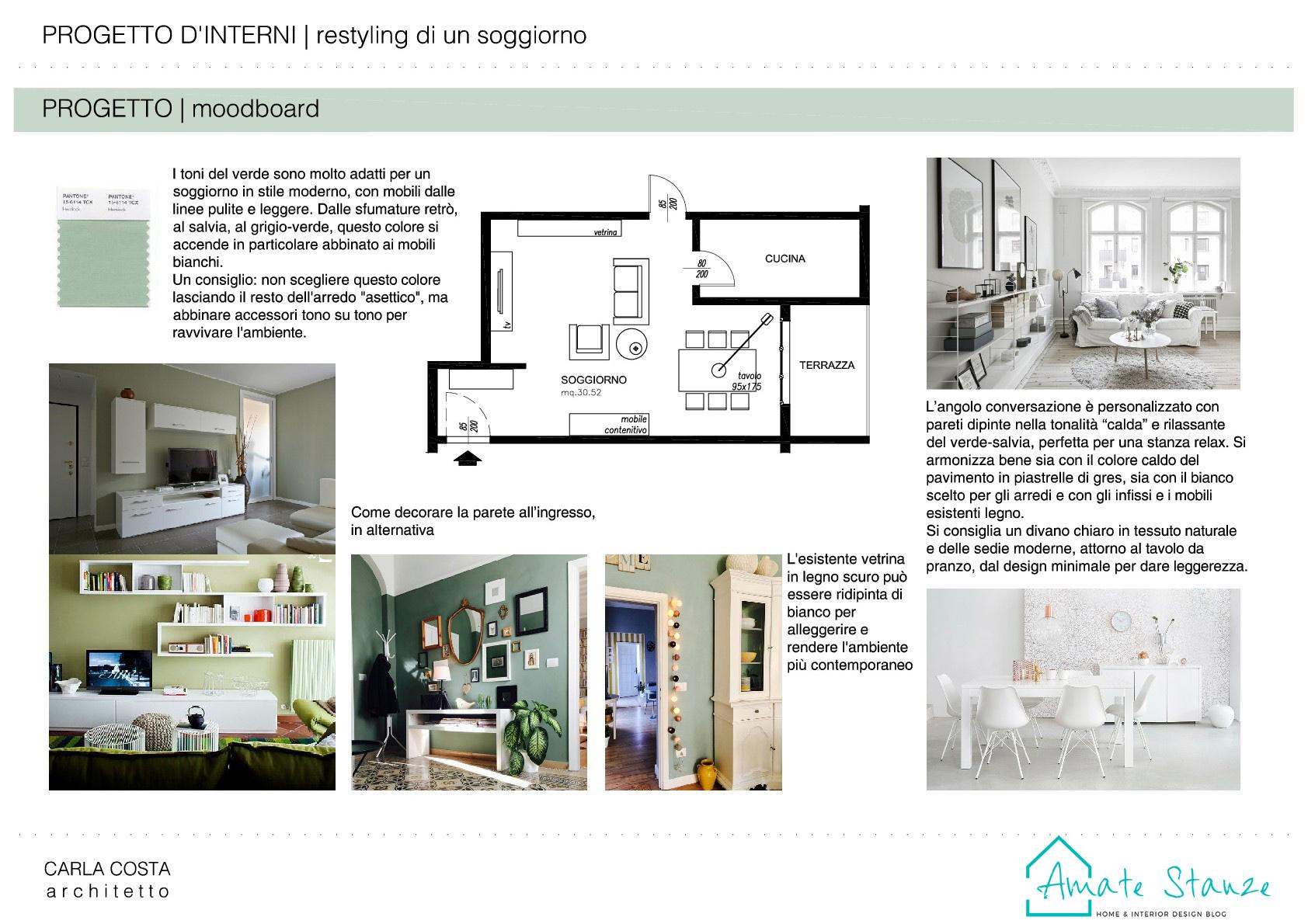 Mobili Da Soggiorno Bianchi progetto di restyling di un soggiorno moderno e retrò