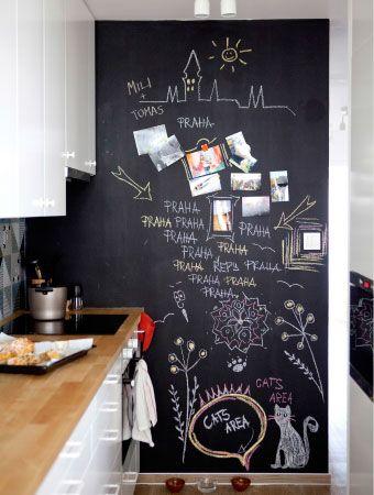 Decorare casa con la pittura effetto lavagna