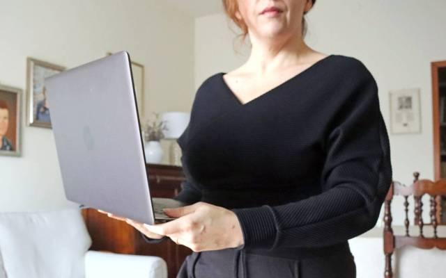 Top corto nero a costine Kourt - Femme Luxe