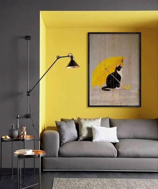 Colori pantone Illuminating e Ultimate Gray per il soggiorno