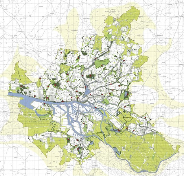 Grünes Netz - Stadt Hamburg