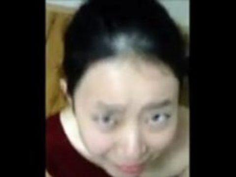 Homemade asian facial porn