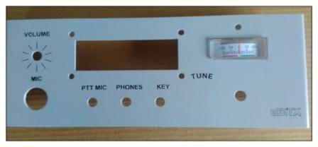 Panel For uBitx case with Meter Cut - Ham Radio Hobby Kits