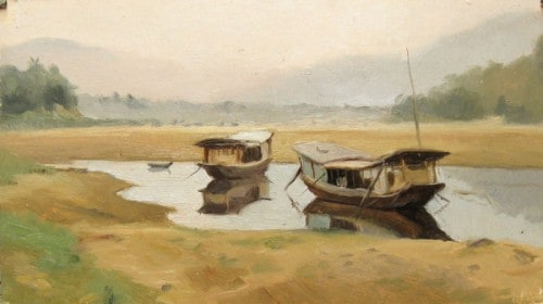 Boats On The Mekong, Luang Prabang, Laos