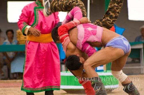 Mongolia Naadam Festival - wrestling