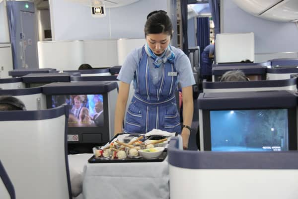 Business Class service on ANA