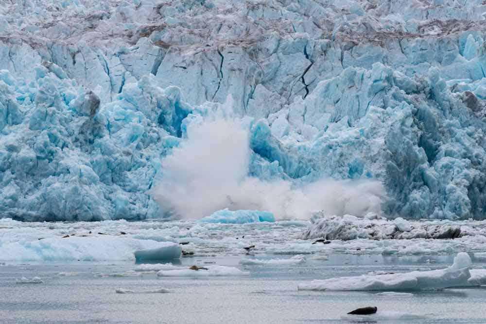 Caving Glacier - Tracy Arm Glacier - Alaska