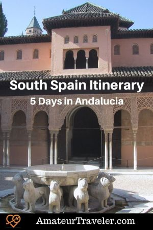 South Spain Itinerary - 5 Days in Andalucia #spain #andalucia #cordoba #itinerary #places #grenada