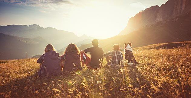 group enjoying the view