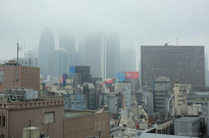 rainy day in Shinjuku Tokyo