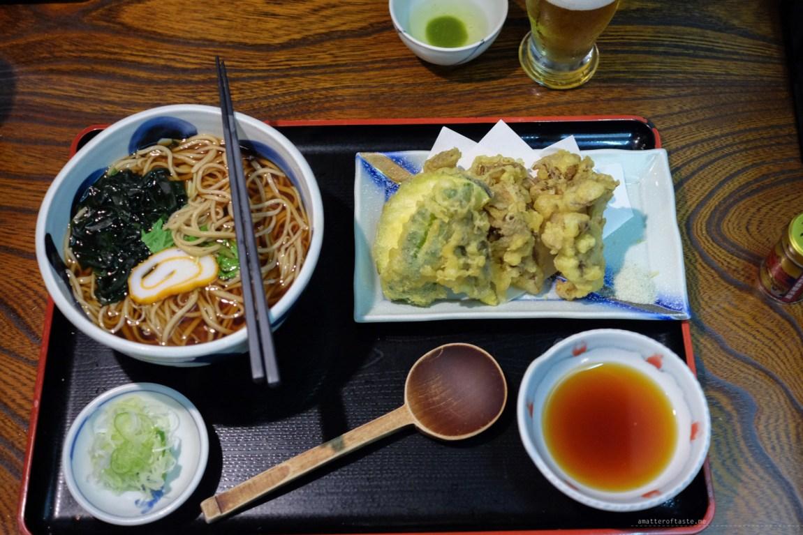 soba dinner matsumoto