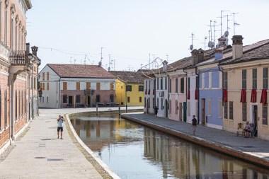 Comacchio quiet canal street