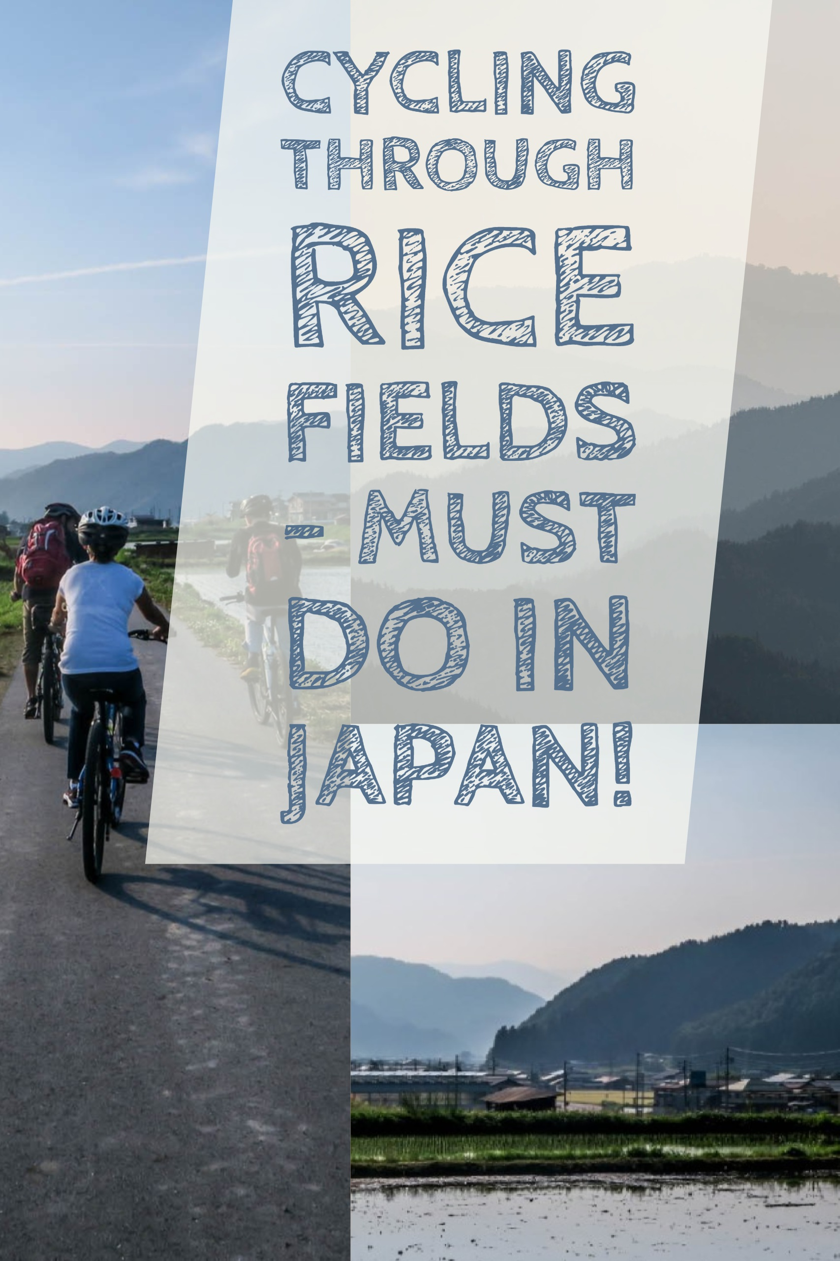 Cycling Rice Fields - must do in Japan