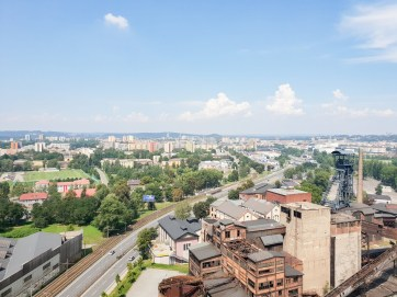 Dolni Vitkovice bolt tower Ostrava view