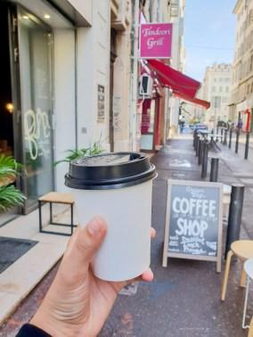 Ginger Marseille coffee flat white take away