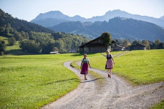 Helga Greta dirndl German road trip Bavaria road