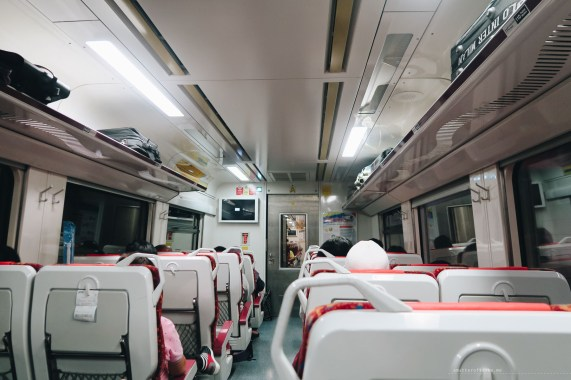 Ipoh KL train interior