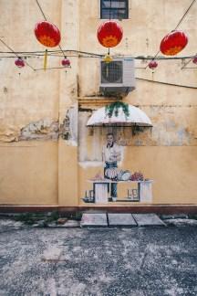 Ipoh street art stall