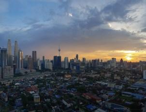 Kuala Lumpur sunset after rain