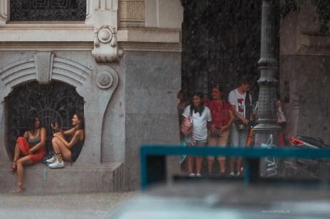 Madrid rainy day