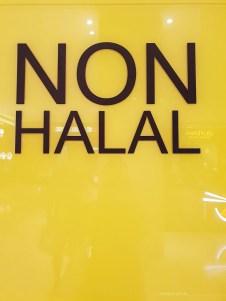 Malaysia KL non halal sign