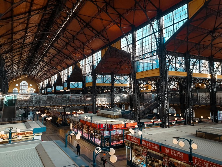 A wide angle view of the Central Market in Budapest. The photo was taken before 7am (thanks jet lag!) so there are almost no people there which is a rare sight at this particular market.