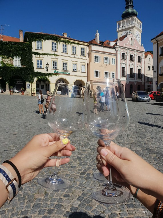 Mikulov wine sightseeing glasses square