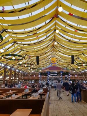 Oktoberfest Munich road trip inside Paulaner tent