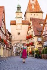 Rothenburg ob der Tauber germany dirndl