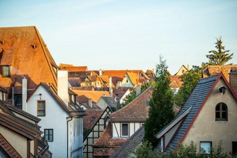 Rothenburg ob der Tauber germany sunrise rooftops