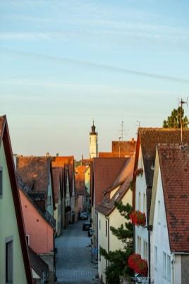 Rothenburg ob der Tauber germany sunrise town