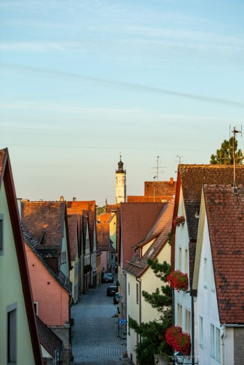 Rothenburg ob der Tauber germany sunrise town