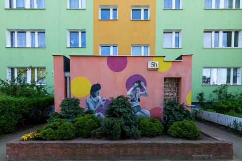 Street art in Gdansk - concrete condominiums makeover