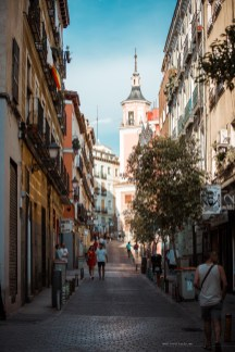 life in Madrid - our apartment neighbourhood street