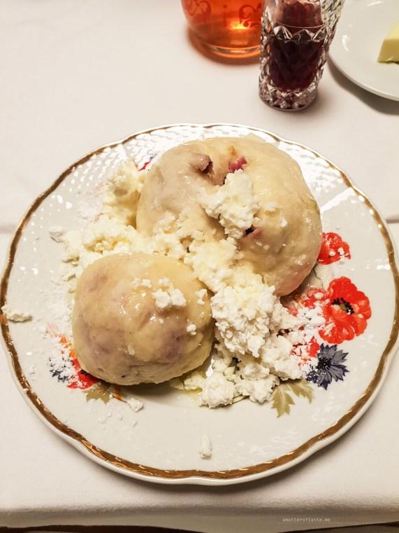ovocne knedlicky fruit dumplings Czech
