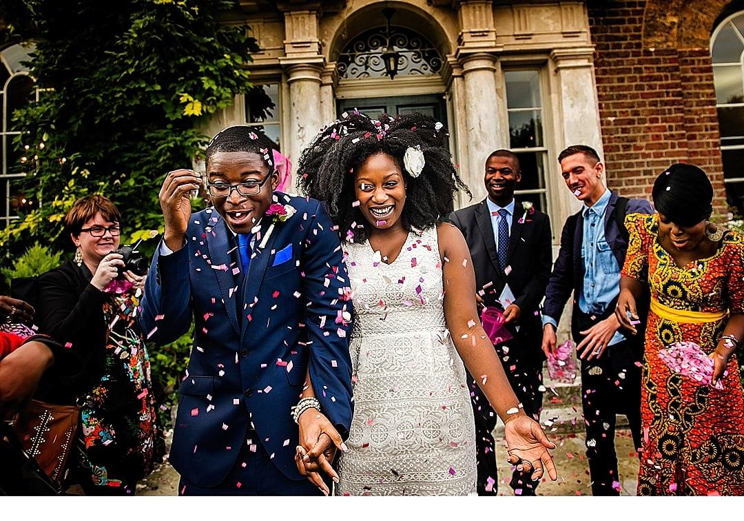 Morden Hall Park Wedding Photography Confetti