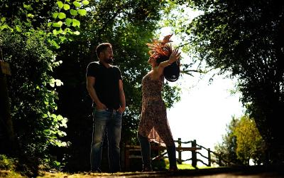 Stunning outdoor Surrey post-wedding photo shoot