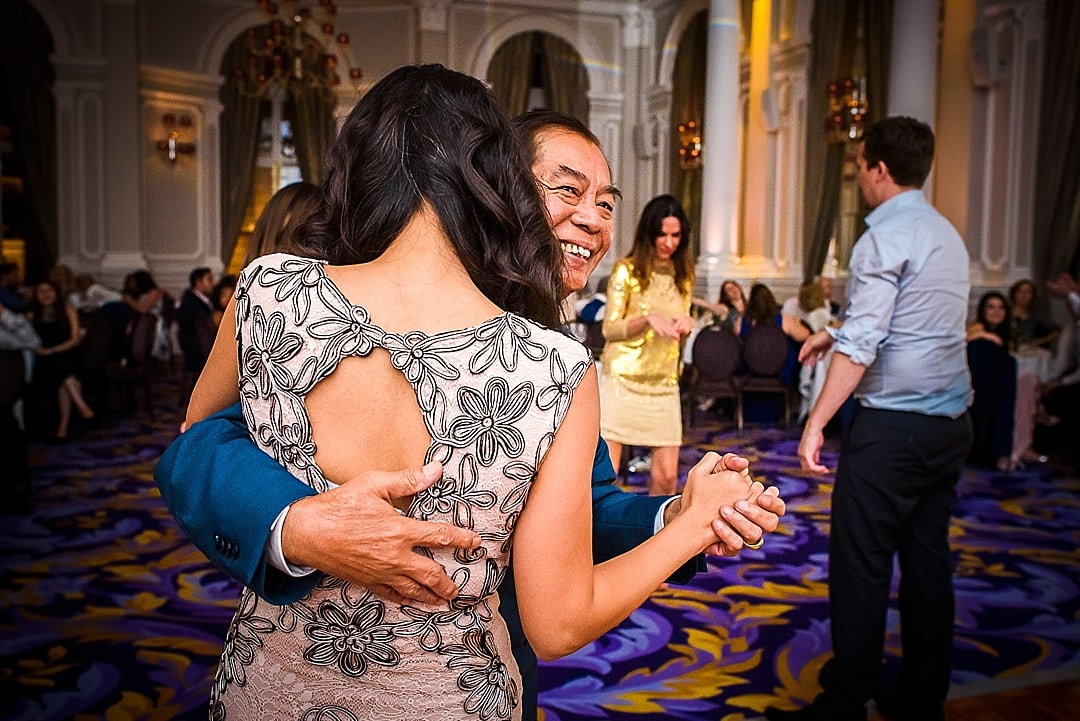 Corinthia Hotel Wedding Photographer father and daughter dance