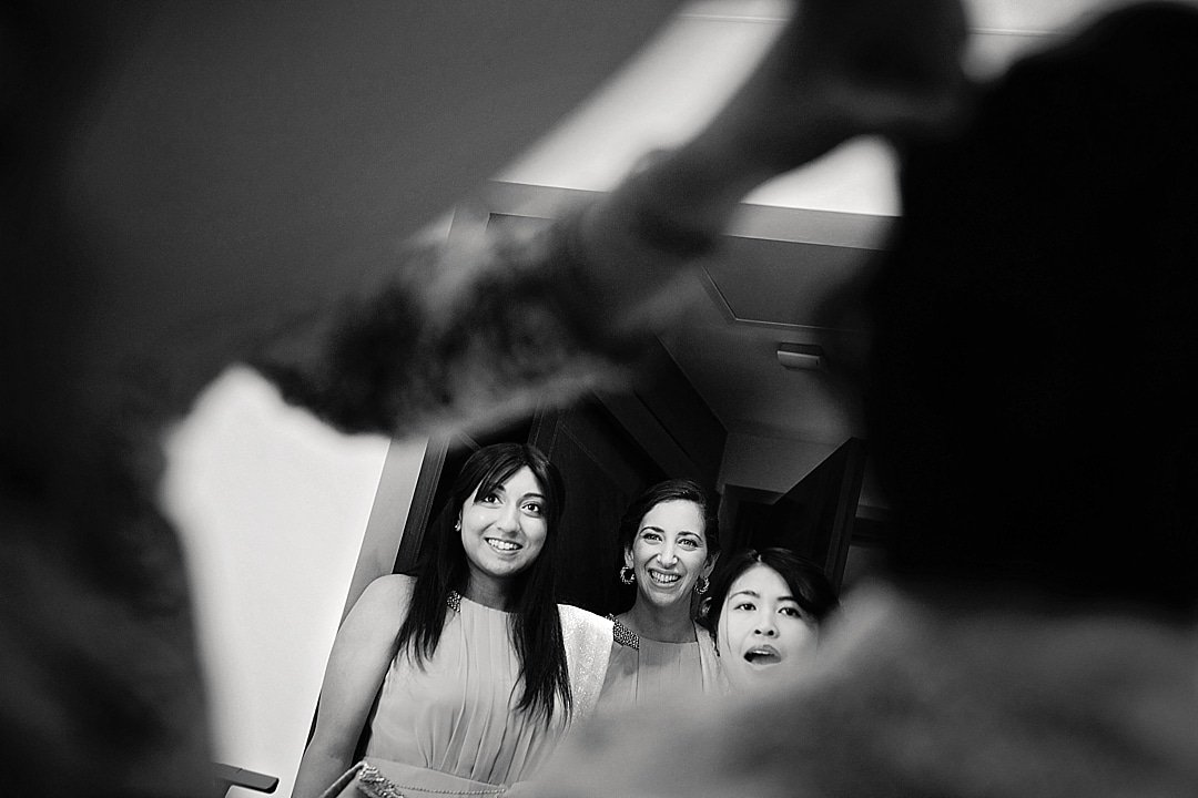 vill Court Wedding Photography bridesmaids watching bride get ready
