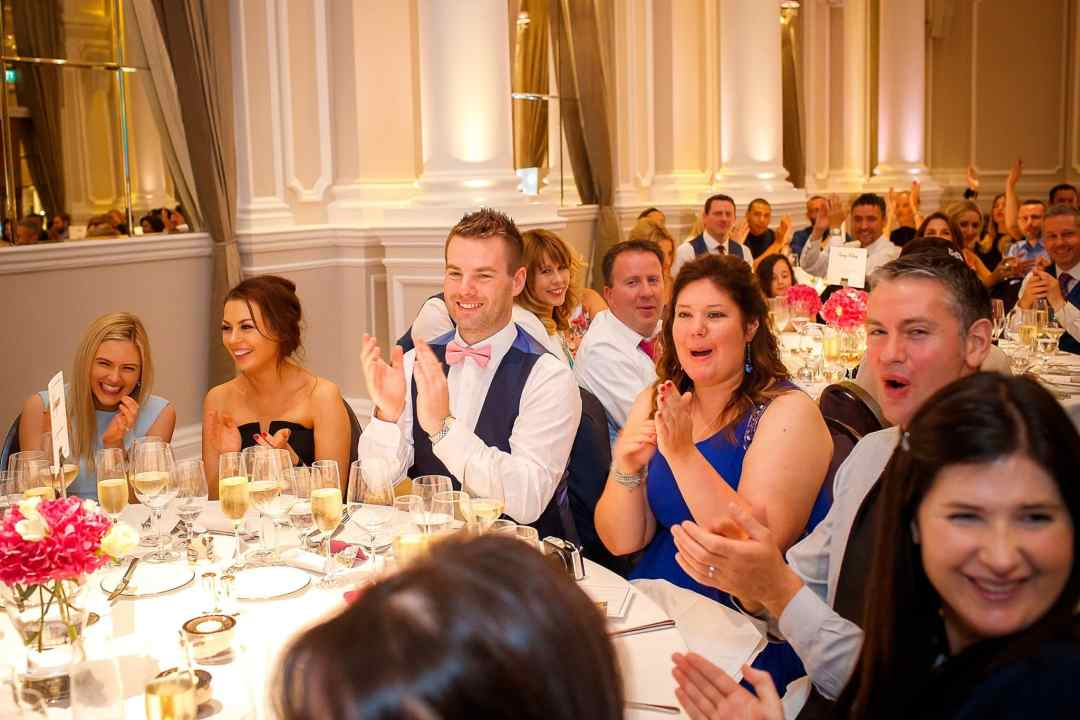 Corinthia Hotel Wedding Photographer Speech Guests
